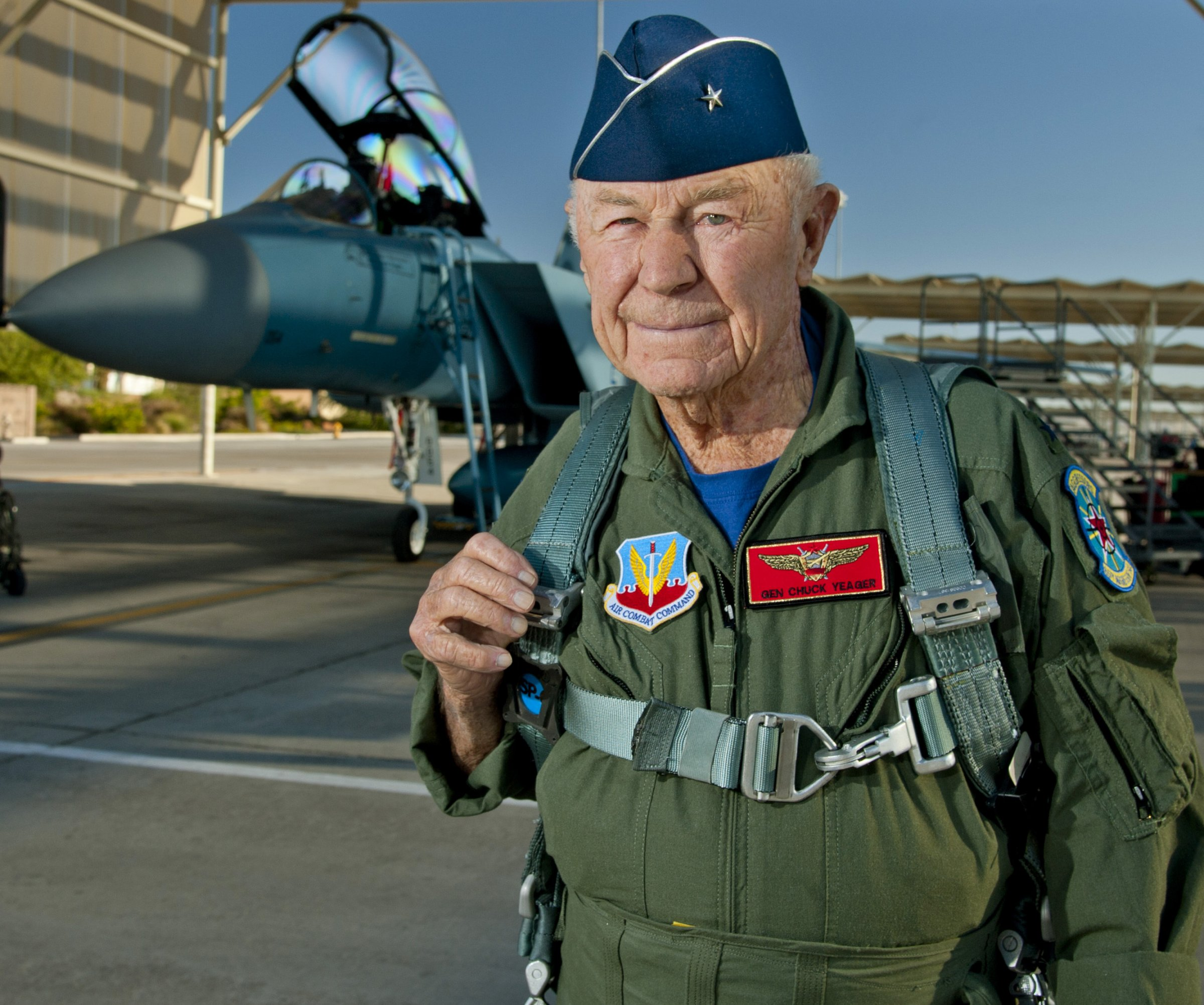 Chuck Yeager weighs in:  F-22 / F-35!