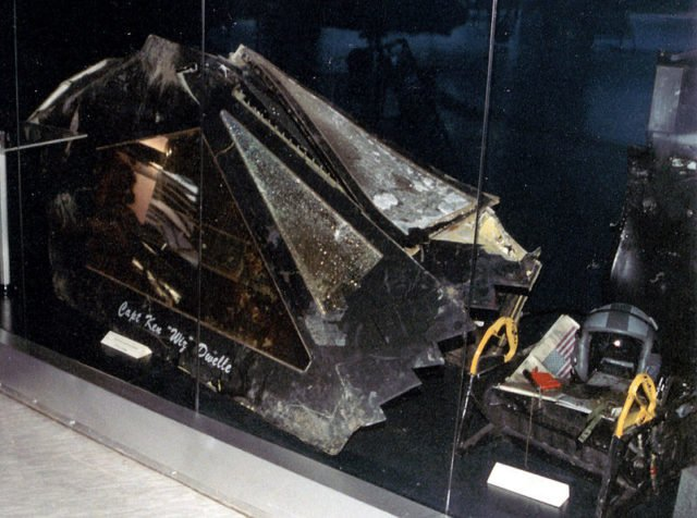 Canopy and ejection seat of the F-117A at the Serbian Museum of Aviation Image Source: Marko M CC BY-SA 3.0